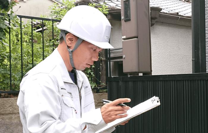 外壁塗装業者選びのポイント-現状の建物・建材の診断イメージ