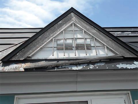 屋根傷み-色あせ・剥離