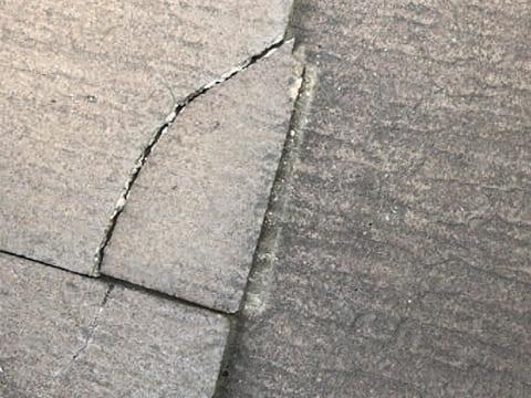 屋根傷み-ひび割れ