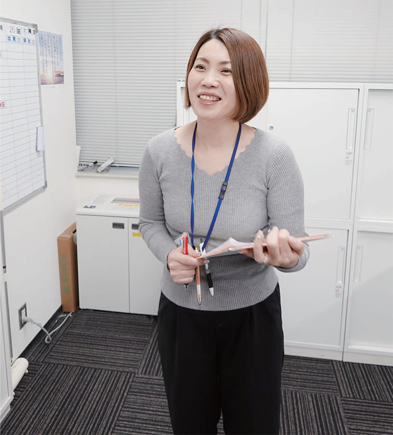 本社 事務職 木村主任イメージ